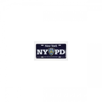 PLAQUE IMMATRICULATION NYPD NAVY