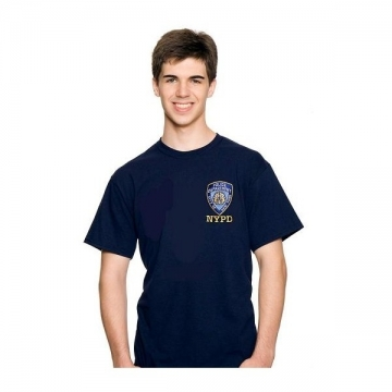 TEE-SHIRT NYPD BRODE NAVY