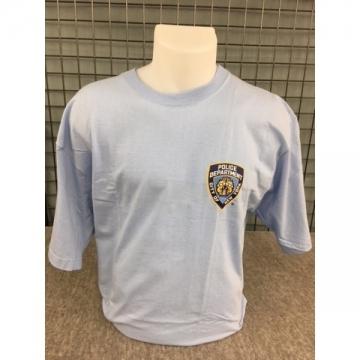 TEE-SHIRT BLEU NYPD + TEXTE DOS