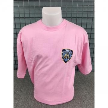 TEE-SHIRT ROSE NYPD + TEXTE DOS