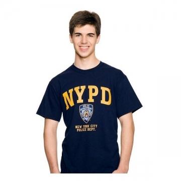 TEE-SHIRT NYPD NAVY - JAUNE