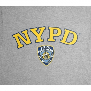 TEE-SHIRT ENFANT NYPD GRIS-JAUNE