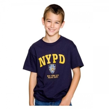 TEE SHIRT ENFANT NYPD NAVY JAUNE