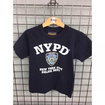 TEE SHIRT KIDS NYPD NAVY BLANC
