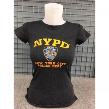 TEE-SHIRT LADY NYPD COL ROND