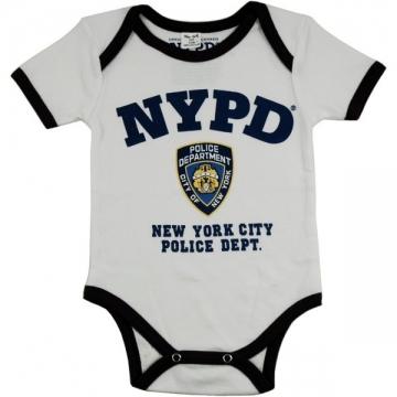 BODY MANCHE COURTE NYPD WHITE BI COLOR
