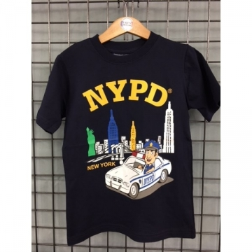 TEE-SHIRT KIDS NAVY NYPD VILLE & POLICIER
