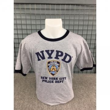 TEE-SHIRT NYPD BI-COULEUR GRIS NAVY