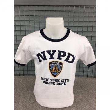 TEE-SHIRT NYPD BI-COLOR BLANC - NAVY