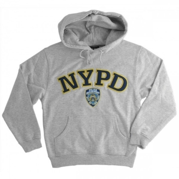 SWEAT CAPUCHE BRODE NYPD GRIS
