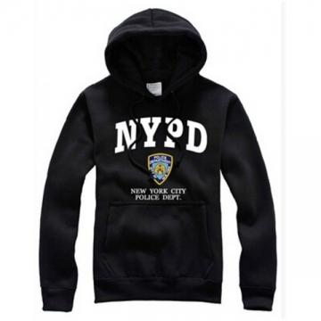 SWEAT CAPUCHE NYPD NAVY - BLANC