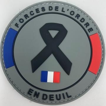 Ecusson Forces de l'Ordre en Deuil PVC