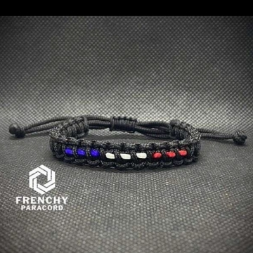 Bracelet Patriote petit modèle Noir v4