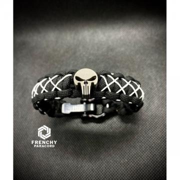 Bracelet Punisher Noir