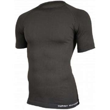 Tee-Shirt 1ère peau Manches Courtes Technical Line - Noir