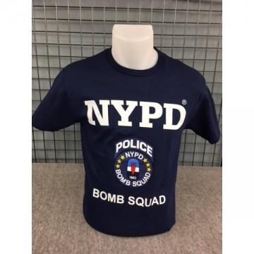 TEE-SHIRT NYPD BOMB SQUAD NAVY